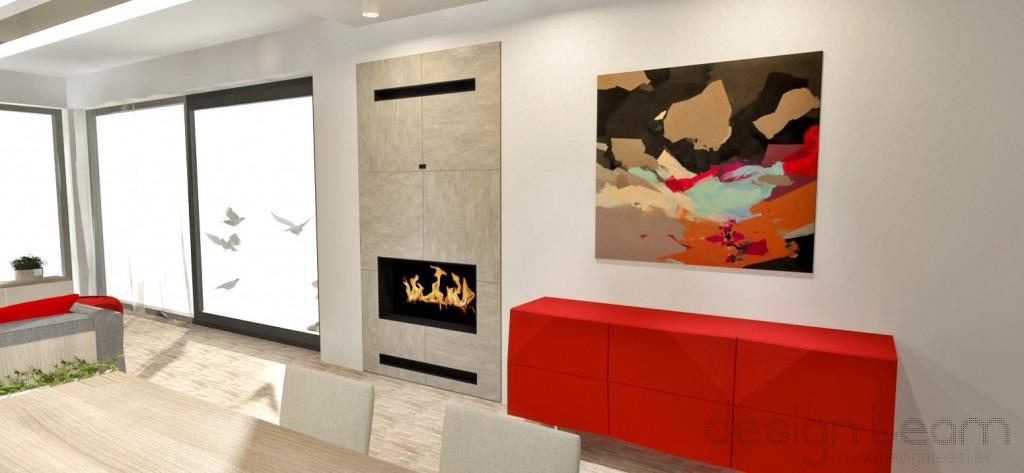 Obývačka s dekoračnou stierkou