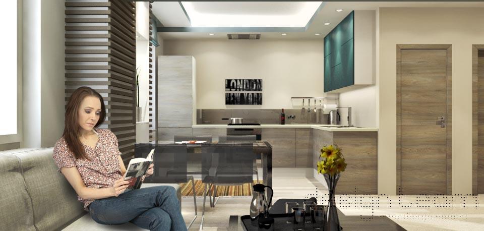 Keďže kuchyňa je spojená s obývačkou je najvhodnejšie použiť vstavané spotrebiče.