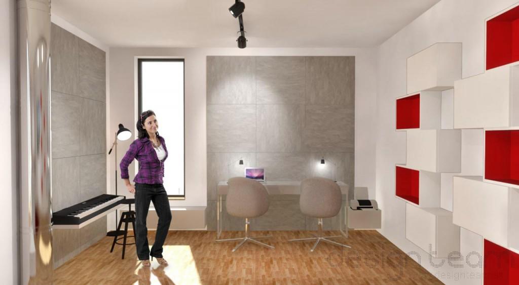Detaily interiéru zvýrazňuje reflektorové osvetlenie koľajového typu.